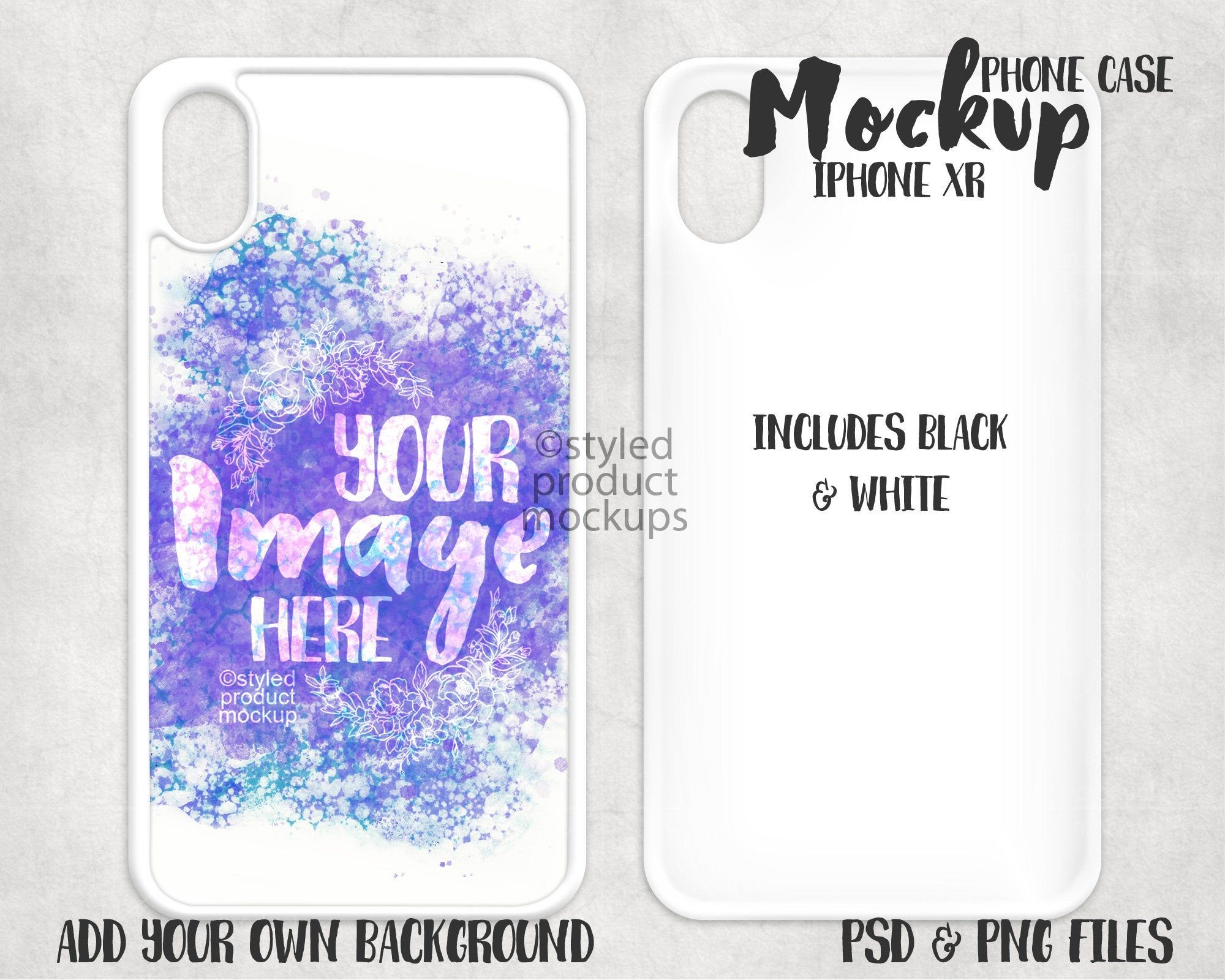 Download Dye Sublimation Iphone Xr Phone Case Mockup Add Your Own Etsy Phone Cases Phone Cover Design Case