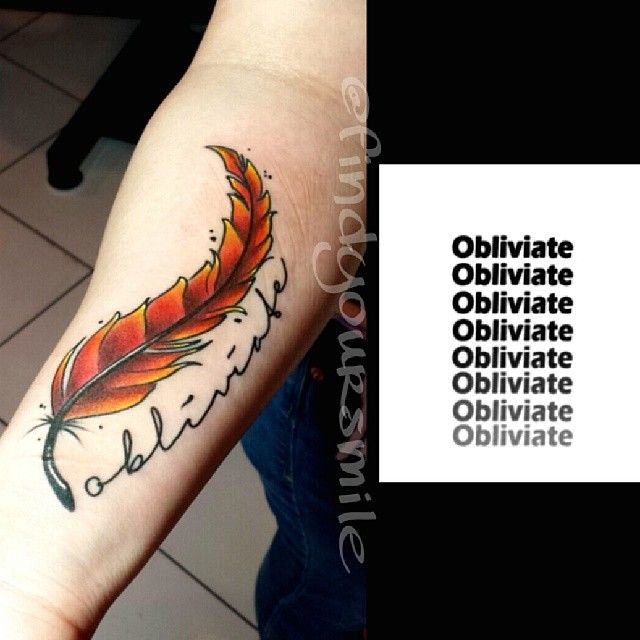 Little Harry Potter Tattoo Business Tattoo Colortattoo Harrypotter Harrypottertattoo Gryffindor Fawkes F Tattoos Phoenix Feather Tattoos Pheonix Tattoo