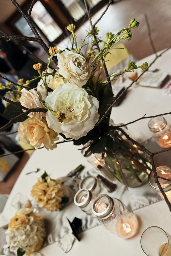 Table centerpieces | Canaan Valley Resort, WV | Davis, West Virginia | Wedding Venue Photography | http://canaanresort.com/13/group-conference/group-services/weddings-receptions/