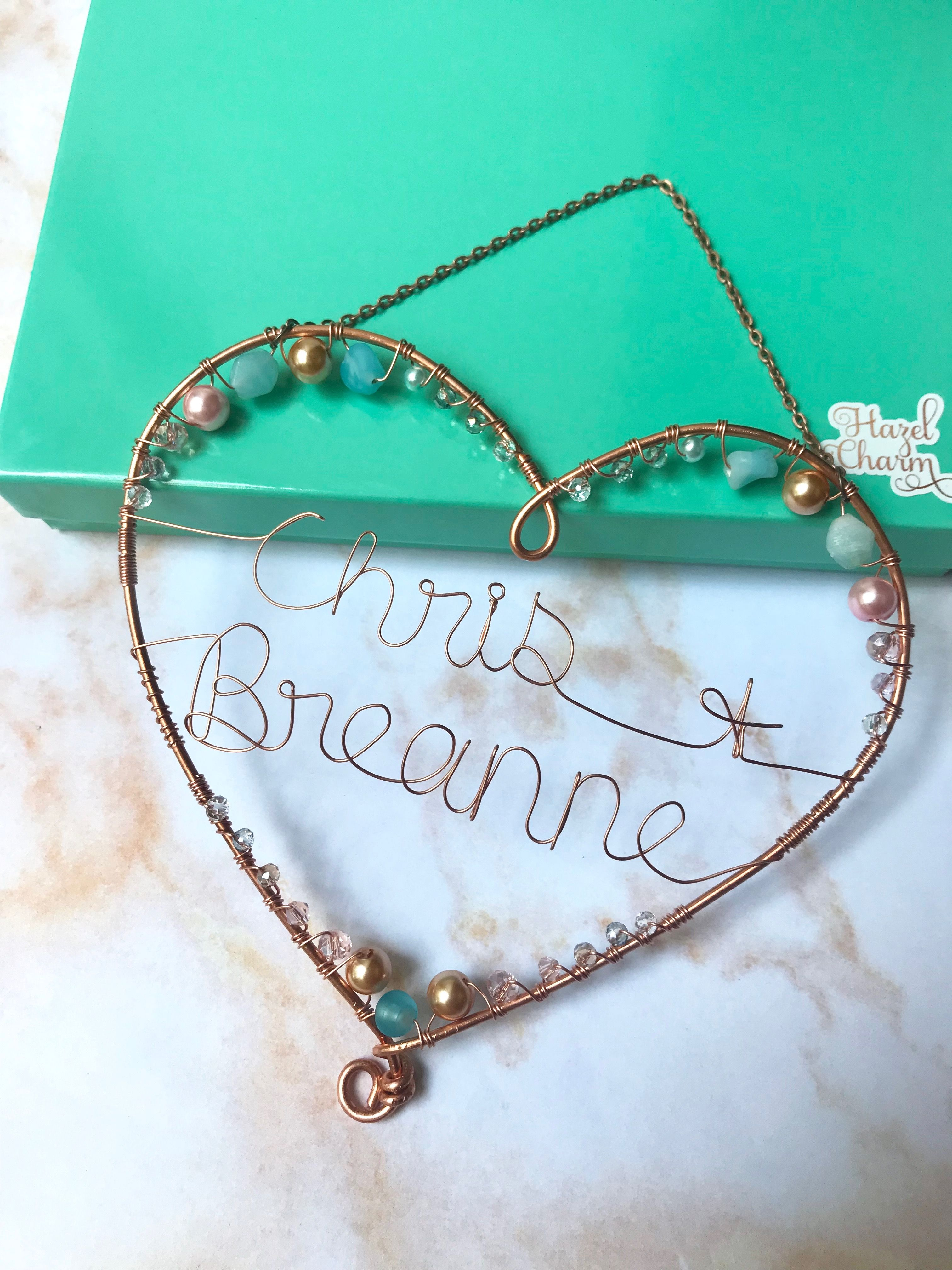 7 year anniversary gift copper heart decoration 7th etsy