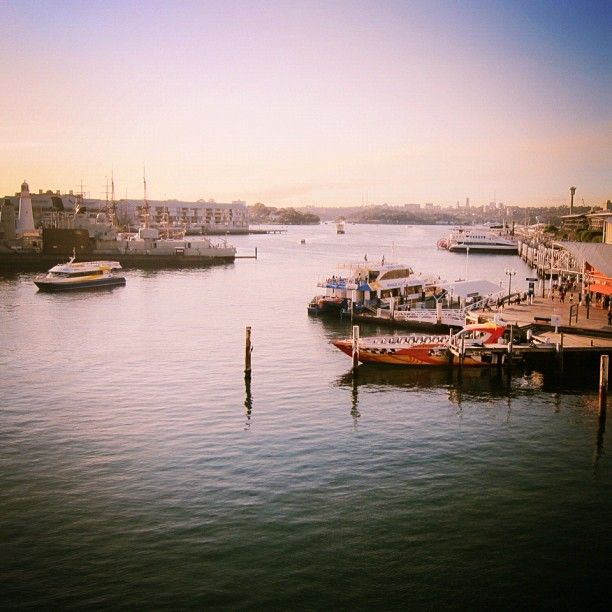 Phoneography challenge: Darling Harbour, Sydney at sunset. @photojojo @brit morin