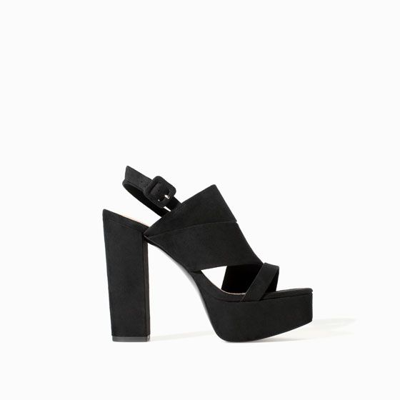 Image 1 of SANDAL WITH PLATFORM HEEL from Zara