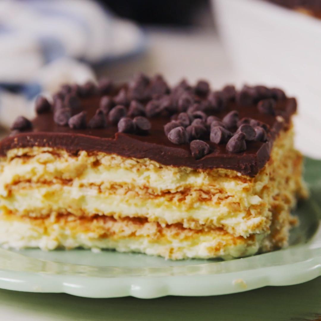Boston Cream Pie Lasagna #sweetpie