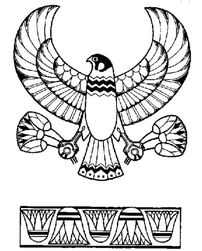 Ancient Egypt Eagle God Horus Emblem Coloring Page Ancient Egypt - new eagles to coloring pages