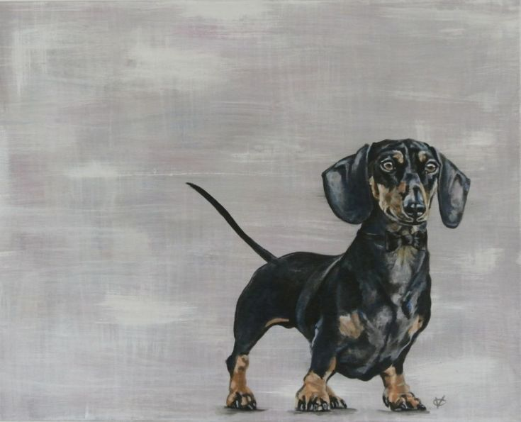 Buy Double 0 Dachshund Painting By Victoria Coleman On Artfinder