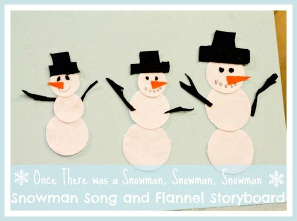 once there was a snowman felt storyboard and song from