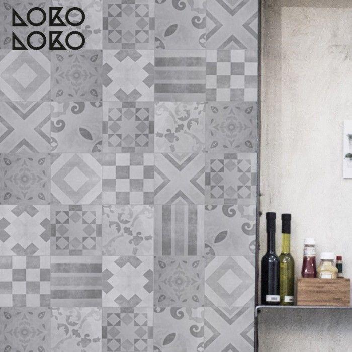 Patrón vintage 5 blanco y negro - Vinilo para muebles, suelos y ...