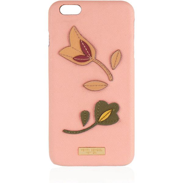 Henri Bendel West 57th Floral Applique Case For Iphone 6/6s Plus ($68) ❤ liked on Polyvore featuring accessories, tech accessories, lt pink and henri bendel