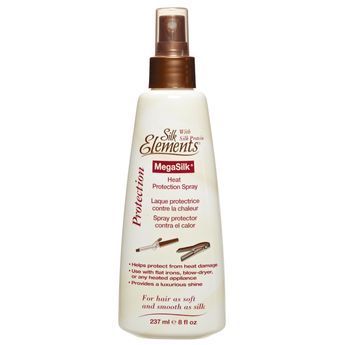 Silk Elements Strength N Silk Coconut Heat Protection Spray Styling Products Textured Hair Heat Protectant Hair Heat Styling Products Sally Beauty Supply