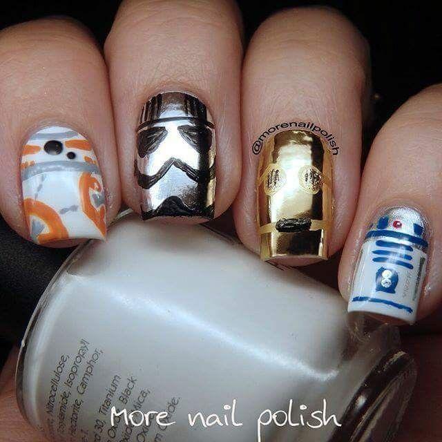 Star Wars nails (More Nail Polish) - Pin By ßunny 🐰 On Nail Designs Pinterest Star Wars Nails, Fun