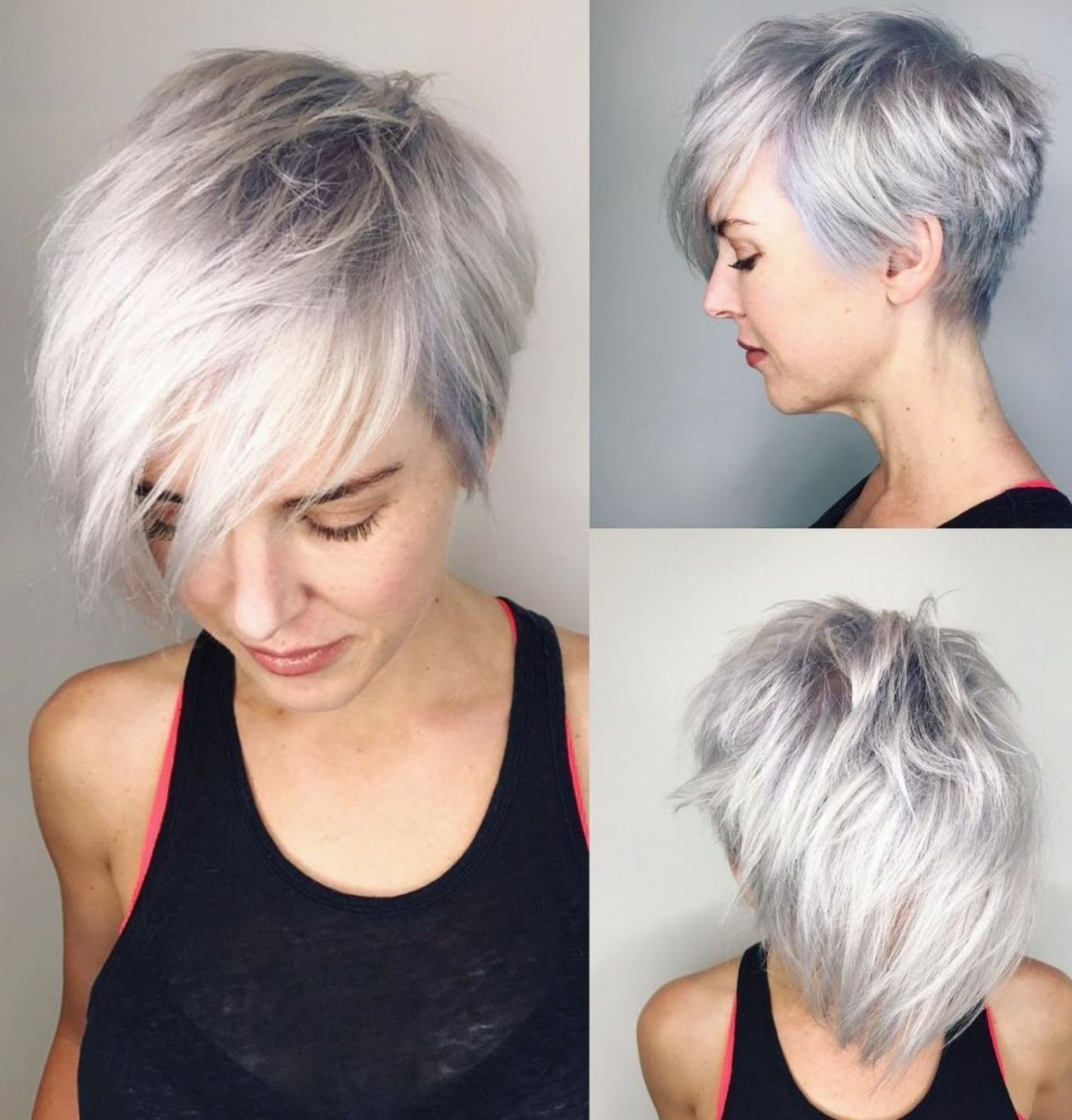 Short Hair Long In The Front in 2020 | Long pixie hairstyles, Stylish short  hair, Short hair with layers
