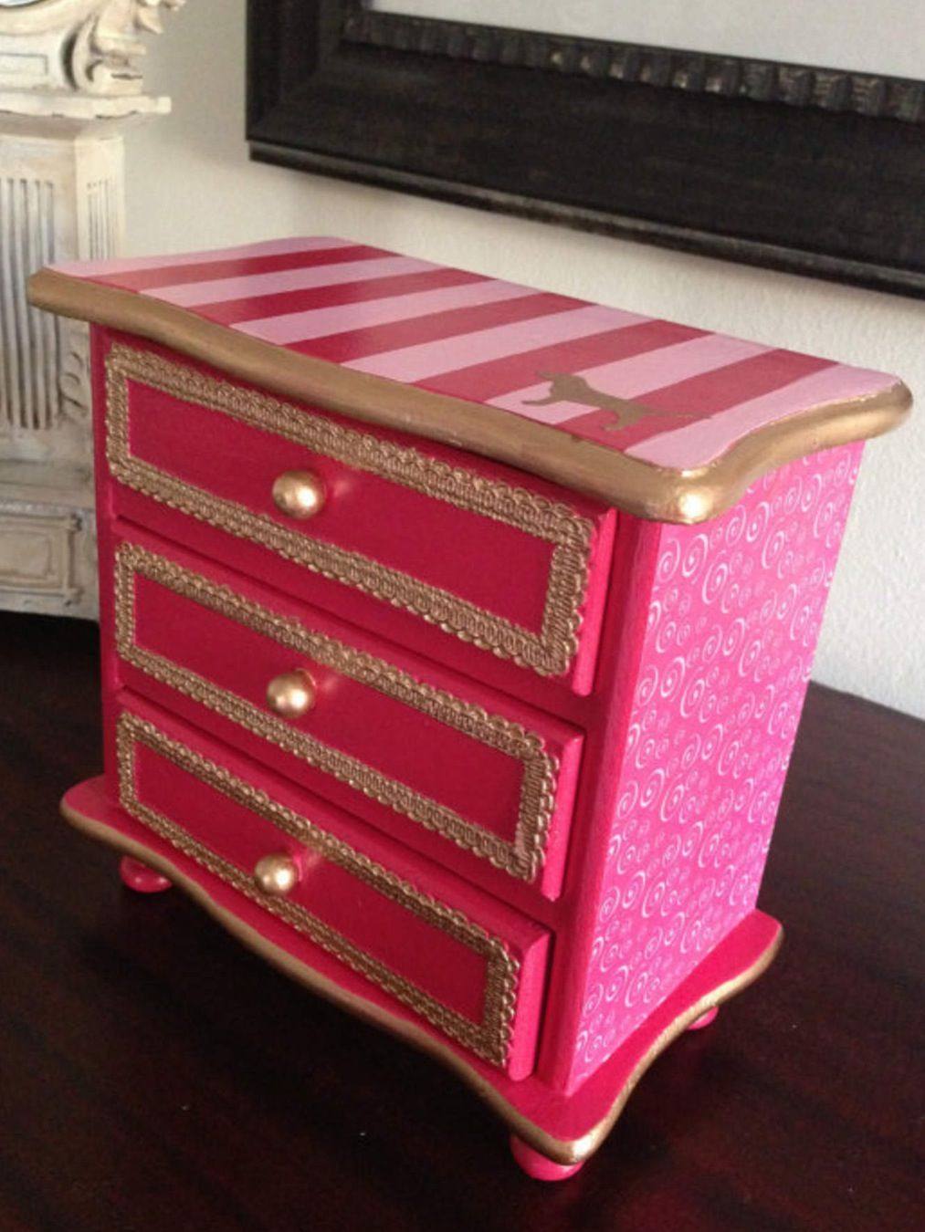 Victoria Secret PINK Jewelry Box Cute Pinterest Box Upcycle