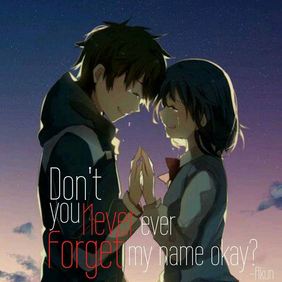 Kimi No Na Wa Sad Anime Quotes Manga