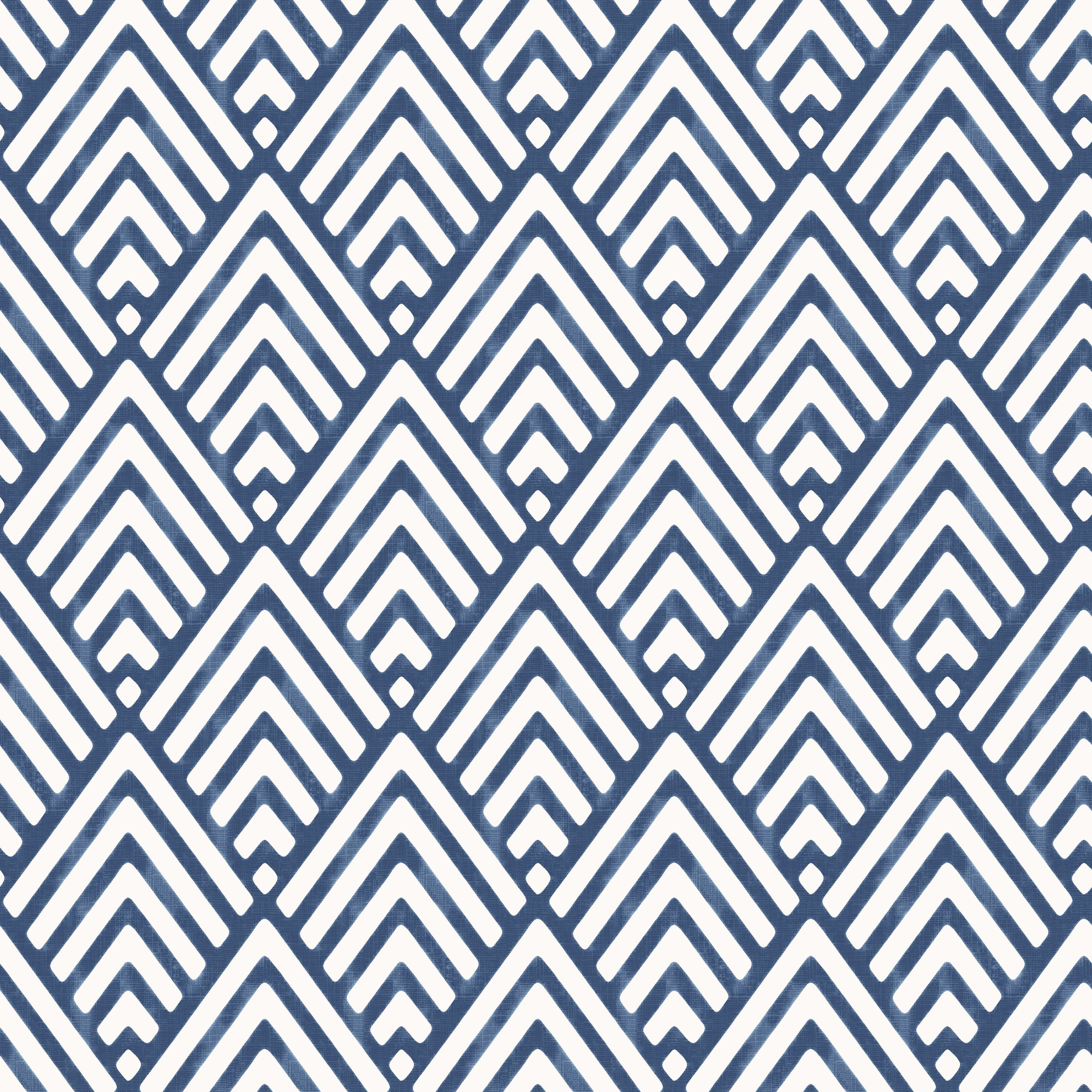 Colours hadley blue geometric mica wallpaper hadley for Blue patterned wallpaper bedroom