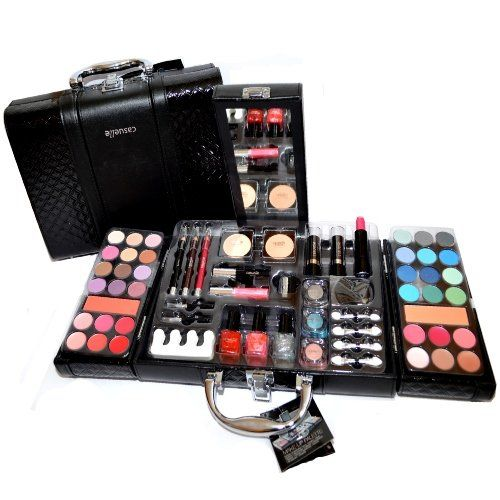 7e8e3bee2a66 Exclusive Kosmetik Make-up Kunstleder Beautycase SCHMINKKOFFER 63 teilig  (e797) http:/
