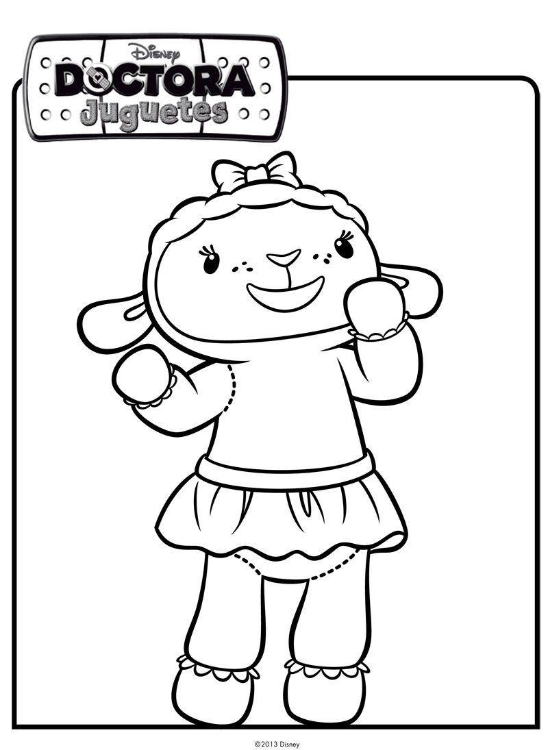 Dibujos Para Colorear Disney: Dibujo De Una Ovejita. Dibujos De Disney Para Colorear