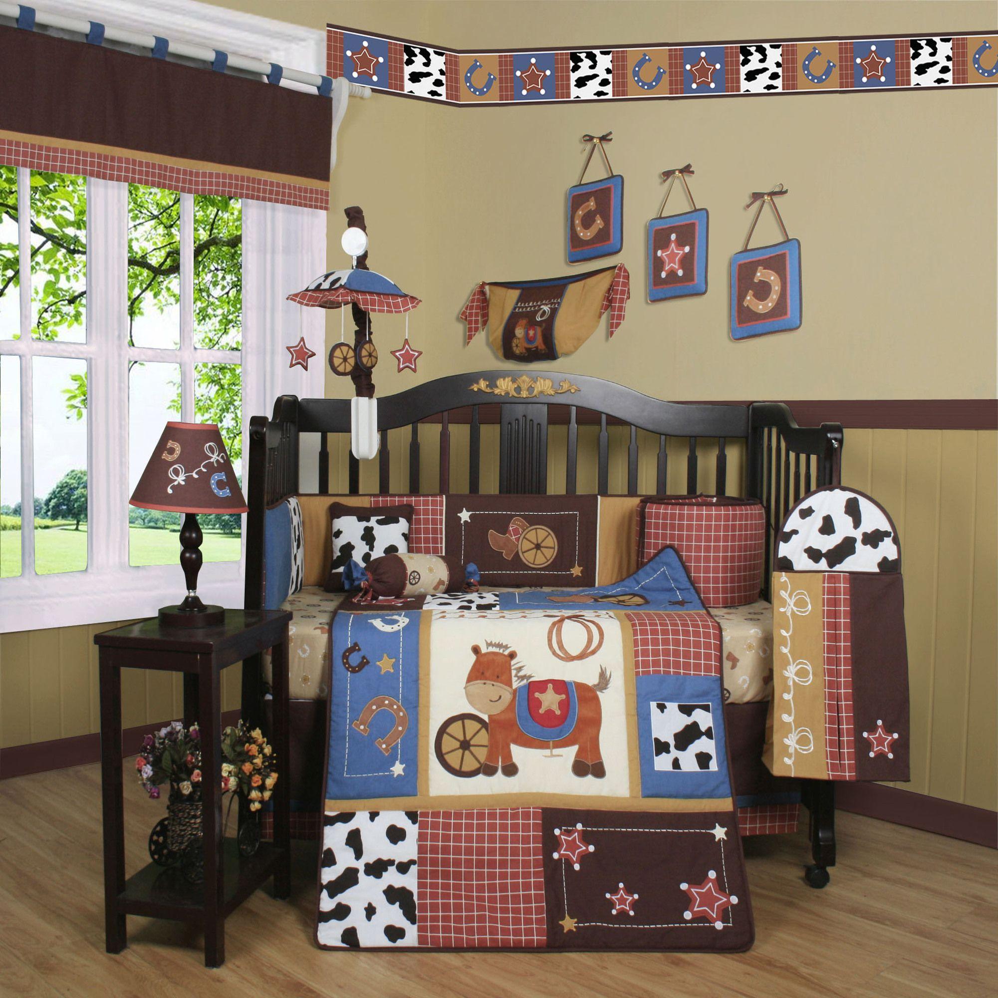 Cowboy 13 Piece Crib Bedding Set