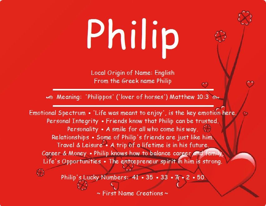 Philip Name Meaning First Name Creations With Images Names