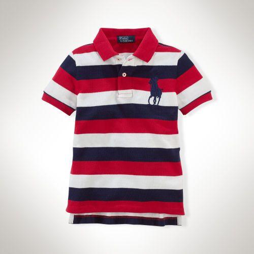 232720be4 Striped Big Pony Cotton Polo -- Toddler Sizes =) | Little Boys ...