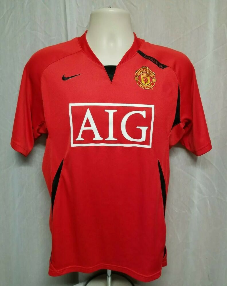 adb6ef838 Nike 90 AIG Manchester United Adult Small Red Football Jersey #Nike # ManchesterUnited