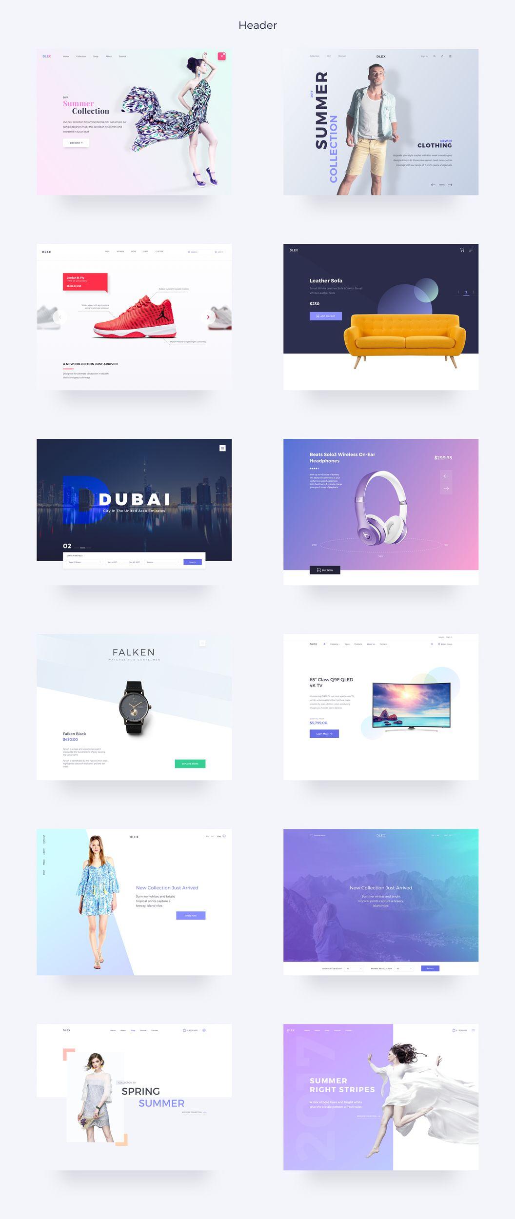 Ultimate Dlex eCommerce UI Kit — UI Kits on UI8 | E-commerce Web