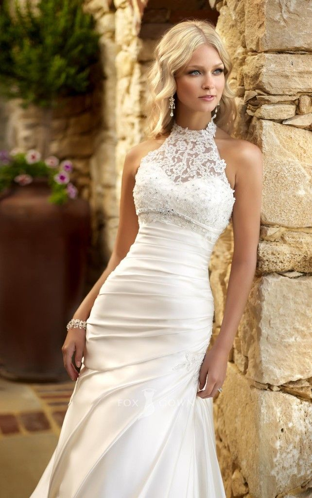 20 Halter Wedding Dresses Ideas | Renewal of Vows | Pinterest ...