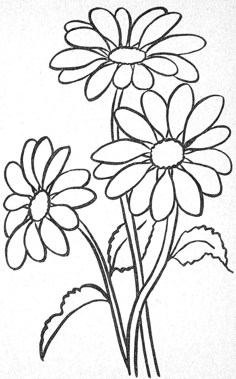 Flower growing coloring pages - Schablon Blommor Templates Flowers