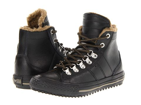 faf1701a245 Converse Kids Chuck Taylor® All Star® Winterized Sneaker Boot  (Toddler Youth) Black Olive - 6pm.com
