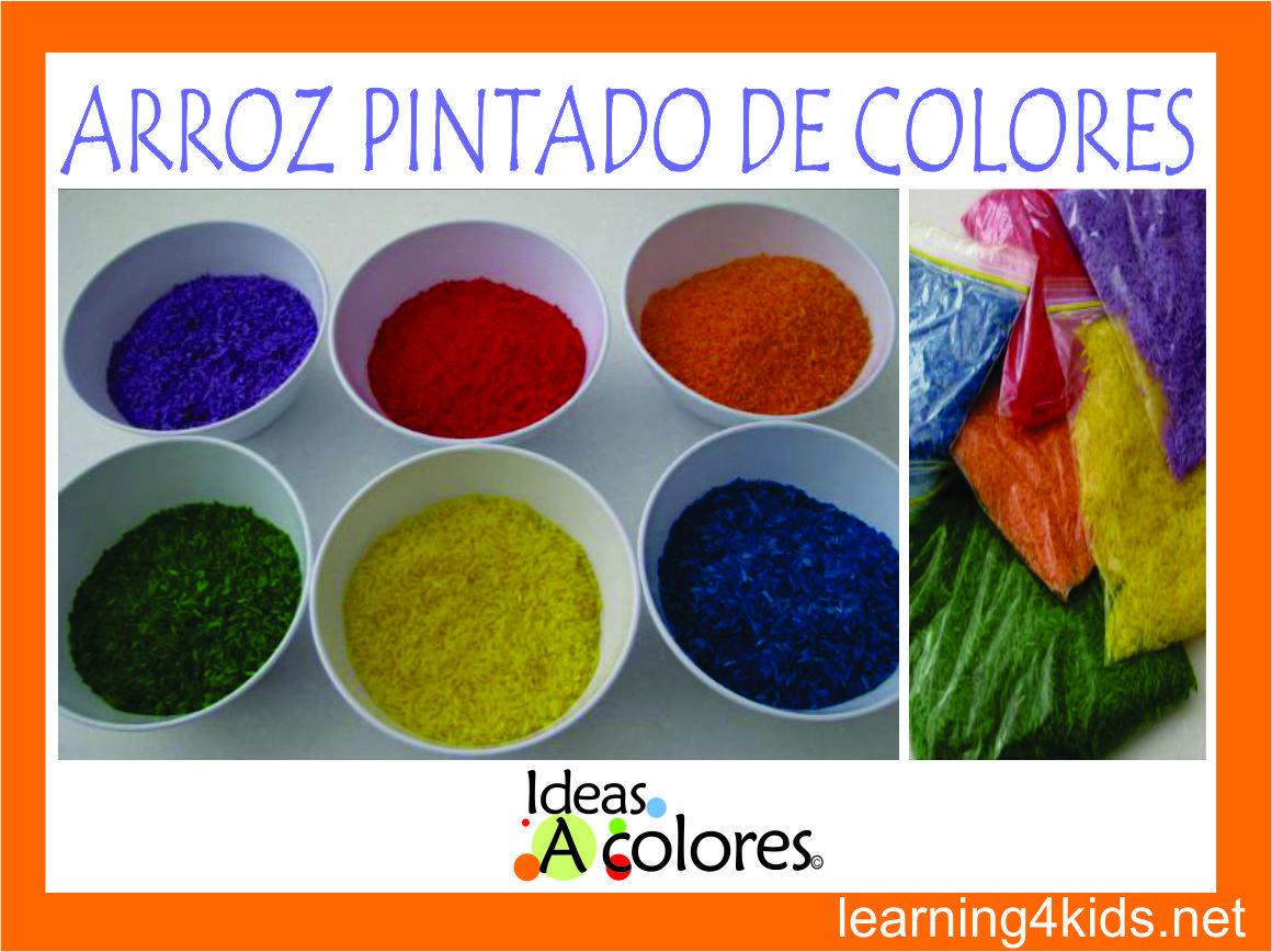 como hacer arroz pintado de colores arte para nios