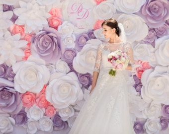 Giant Paper Flowers Wall Flower Wedding By MioGallery