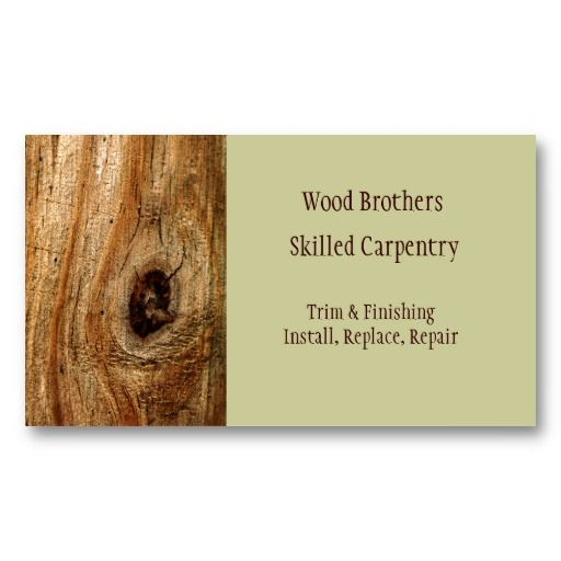 Carpentry Woodwork Business Card Template Carpentry Card - Carpenter business card template