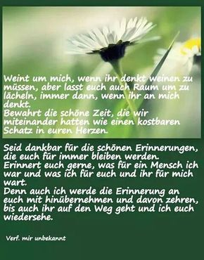 Pin Von Erna Thull Auf Erinnerung Trauer Zitate Sprüche