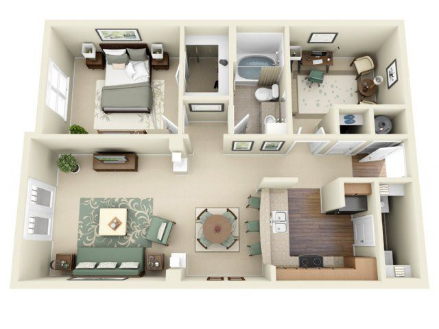 1 Bed 1 Bath Apartment In Cary Nc House Floor Design Small Apartment Floor Plans Apartment Layout