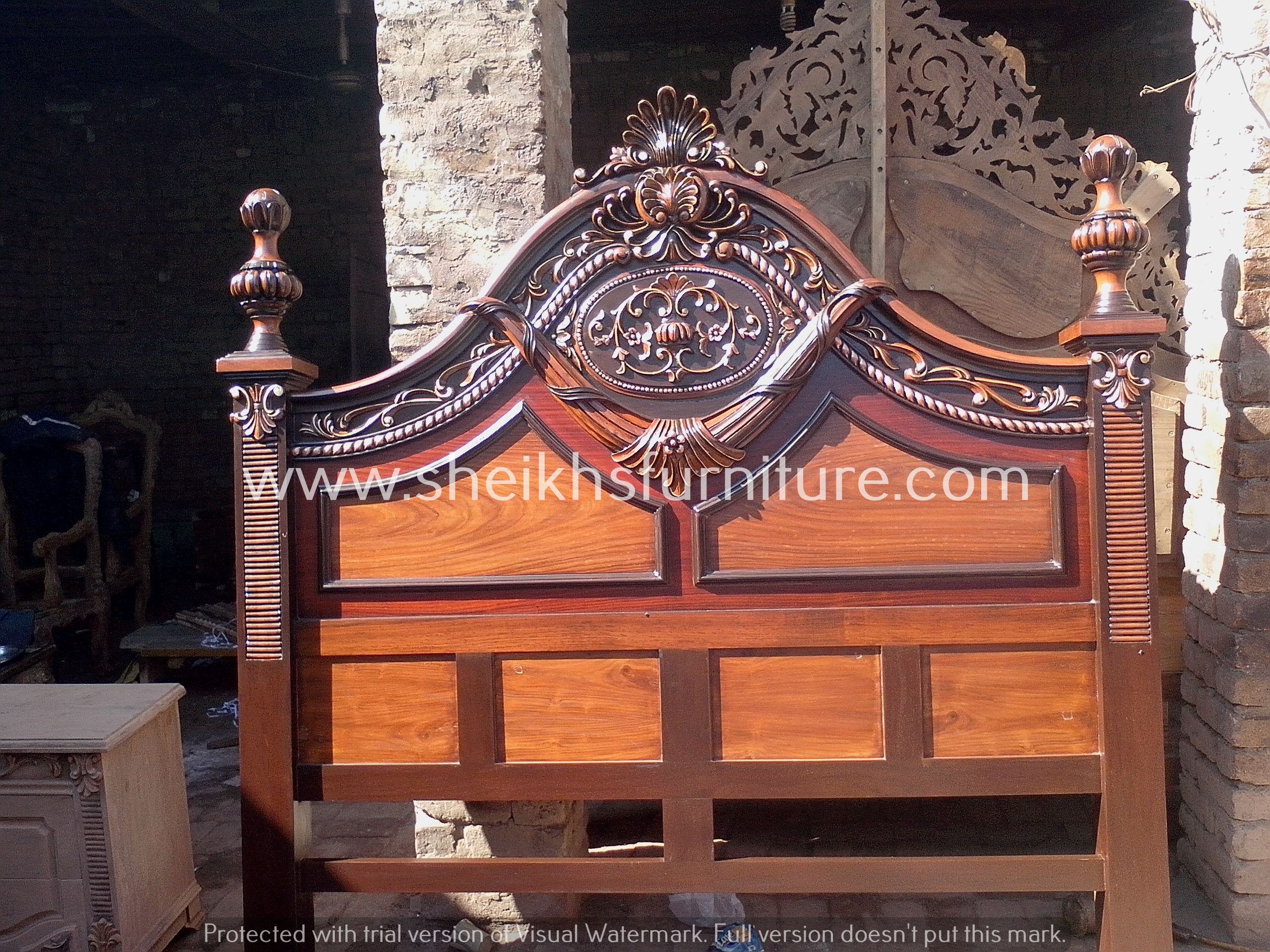 This Is Our Solid Rosewood Bed This Bedroom Set Is Made In Pure Rosewood Sheesham Made In Chiniot Pakista Stylish Bedroom Design Bed Design Stylish Bedroom