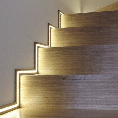 automatic led stair lighting. Automatic Lighting Systems For Stairs - Stair Lighting. With Motion Sensors. Smart Home Interactive Led