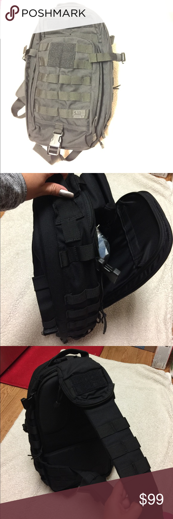 511 Tactical Multi-Use Backpack 🎒 511 Multi-Use Side Sling Backpack 🎒 New!! No Tags Use it to pack light, Hike, or to carry your laptop. 5.11 Tactical Bags Backpacks