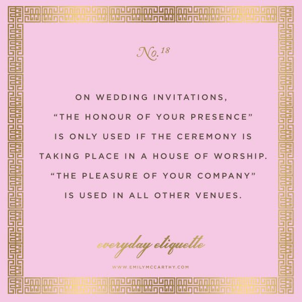 Wedding Invitations Emily Post Etiquette: Everyday Etiquette No. 18 By Emily McCarthy