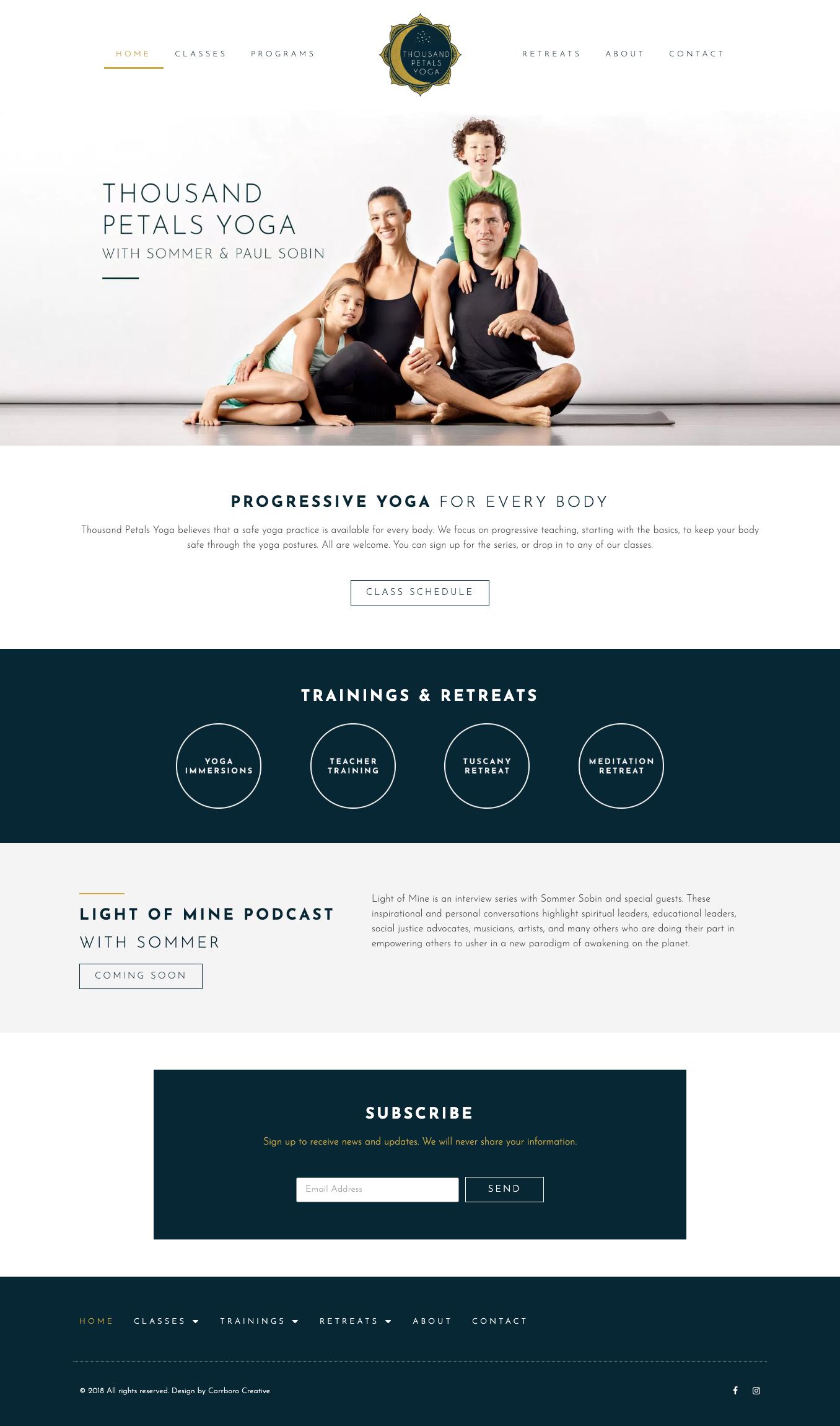 Thousand Petals Yoga Web Design Branding Project Web Design Yoga Web Branding