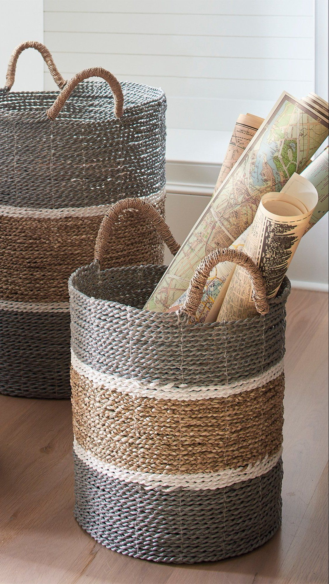 Grab these jambi baskets fast because theye made of everyone favorite basket material distinctive richly colored seagrass handwoven by skilled