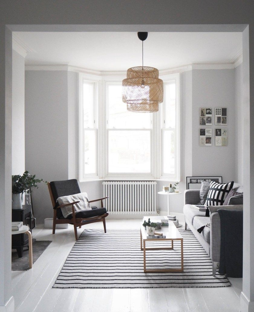 My living room makeover – painted white floors and light grey walls ...