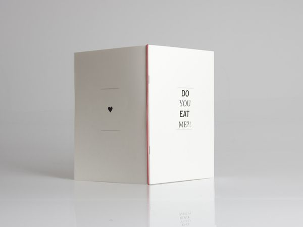 Do you eat me?! - Menu by Marcel Bachran, via Behance