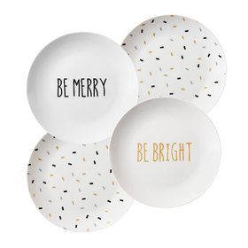 Canape Plates - Set of 4 would suit Christmas and new year ...