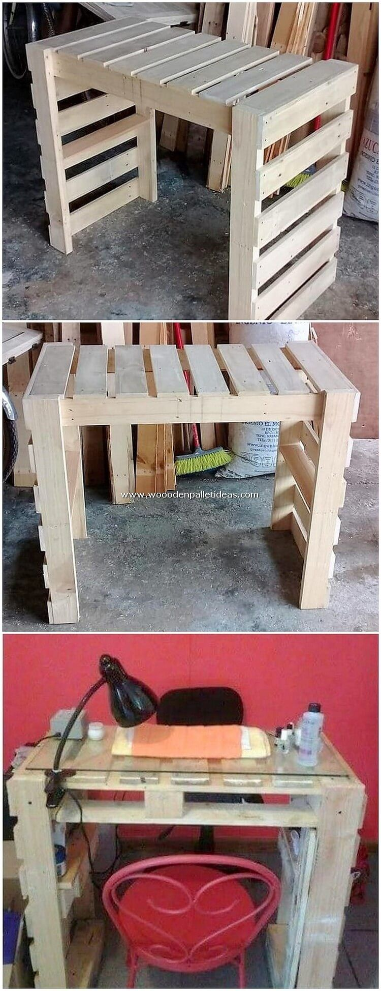 This Is Yet Another Thrilling Designed Wood Pallet Desk Layout That Has Been So Exceptional Designed Out Wit Wood Pallets Pallet Desk Pallet Projects Furniture
