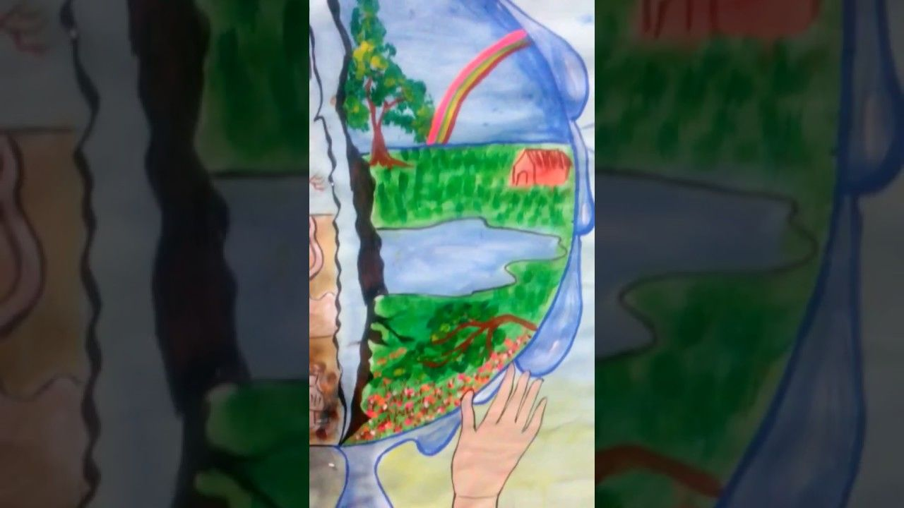 Save water save earth water pollutionr how to draw save water drawing for kids how