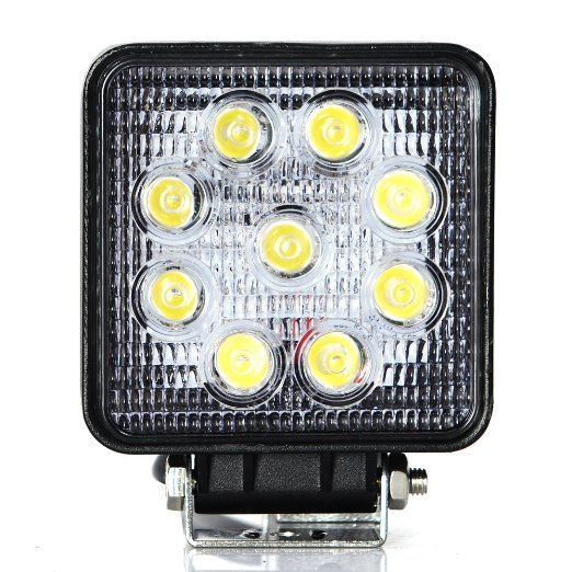 Masione 5 Flood Beam 60 Degree Led Work Offroads Lamp Light Truck Boat 12v 24v 4wd 4x4 27w Square Flood Light Led Work Light Work Lights Truck Lights