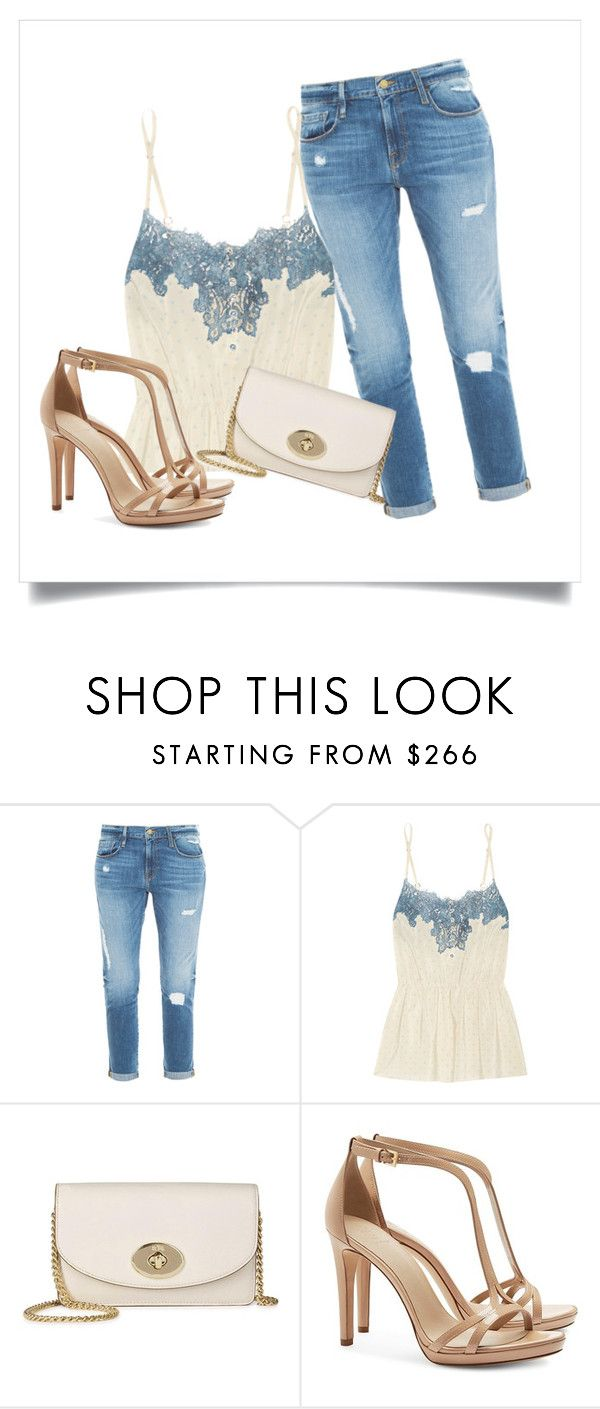 """""""Untitled #491"""" by dolcevita12 ❤ liked on Polyvore featuring Frame Denim, Rosamosario, Coach and Tory Burch"""
