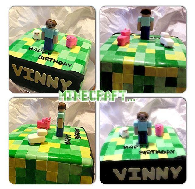 Minecraft Birthday Cake...