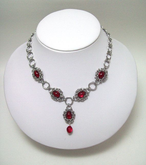 chainmaille necklace, ladies necklace, womens chainmaille, $30.00