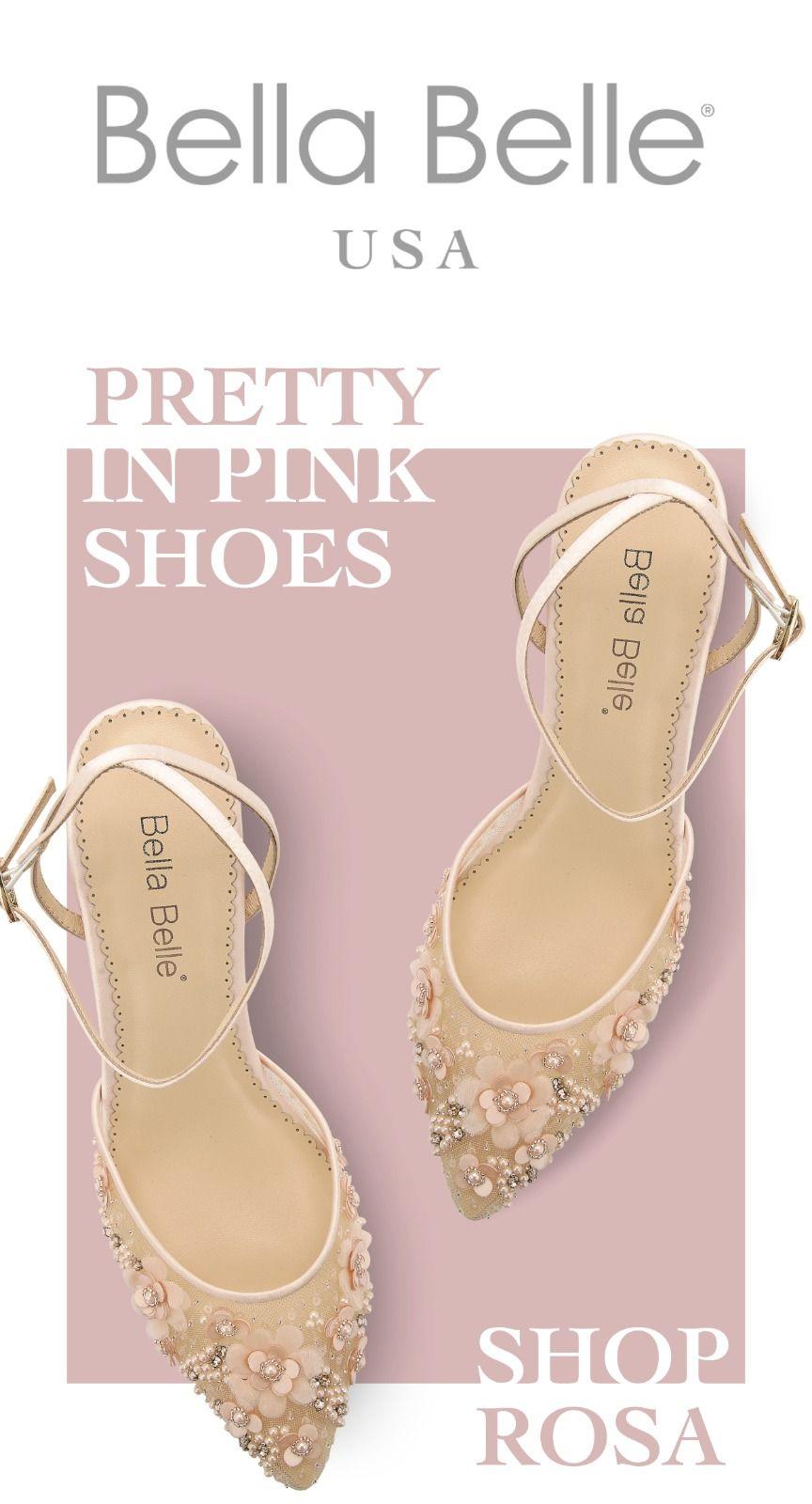 Low Heel Pearl Wedding Evening Shoes In 2020 Wedding Shoes Low Heel Pink Low Heels Blush Wedding Shoes