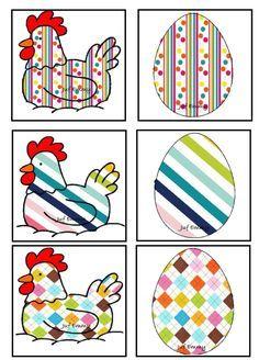 Afbeeldingsresultaat voor memory kip ei | Pasen, Thema, Paasideeën